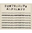 Sketchnote alphabet vector image
