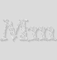 Decorated letter m vector image vector image