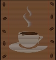 straw mat cup of coffee vector image