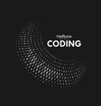 curved binary code vector image