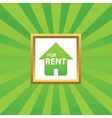 House for rent picture icon vector image