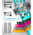 Infographic template with flat UI icons for ttem vector image
