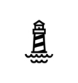 Lighthouse Icon Flat vector image