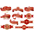 Red Banner Ribbon Set vector image