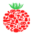 tomato on vegetables vector image vector image