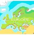 Europe Mainland Cartoon Relief Map vector image