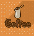 poster in flat style with coffee in cezve vector image vector image