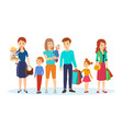 joint purchases in shopping center family visit vector image