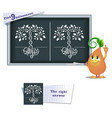 Game find 9 differences family tree vector image