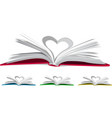 Heart from book pages vector image vector image