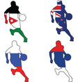 basketball colors of Jordan New Zealand Russia Ser vector image vector image