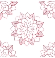 Seamless pattern with hand-drawn watercolor pink vector image
