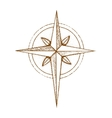Hand drawn compass wind rose symbol vector image