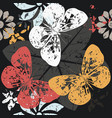contrast pattern with butterfly silhouettes on vector image