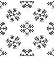 snowflake icon seamless pattern on white vector image
