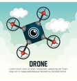 drone icon blue with cloud graphic vector image