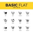 Basic set of cart icons vector image