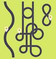 road interweaving of loops - highway interchange vector image vector image