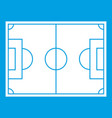 soccer field icon white vector image vector image