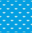 teapot pattern seamless blue vector image