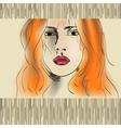 orange haired girl vector image vector image