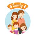 Happy Family Portrait vector image