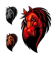 Wild angry horse head mascot vector image