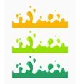 Color liquid splash set vector image