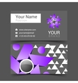 creative card for your business with gray and vector image