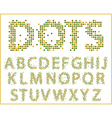 halftone alphabet full set vector image