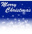 Marry christmas on winter night bacground vector image