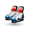realistic ice hockey skates isolated on white vector image