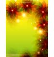 Transparent flowers flyer design vector image