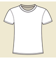 Blank white t-shirt template vector image