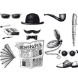 set of retro hipster vector image vector image