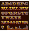 text font checkered with urban vector image vector image