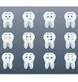 Set of cheerful teeth vector image