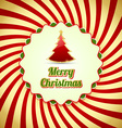 Merry Christmas badge vector image vector image