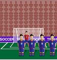 Japan Soccer Club Penalty on a Stadium vector image