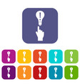 a finger pointer and light bulb icons set vector image