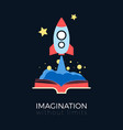 imagination space exploration vector image
