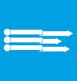 infographic arrows icon white vector image