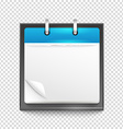 Paper diary on transparent background Template for vector image