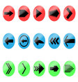 Set arrow color icon vector image