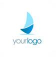 ship sail logo vector image