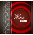 Wine card design vector image
