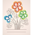 Colorful background with abstract flowers vector image