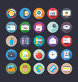 business and office icons 16 vector image