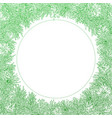 green round frame on white background vector image