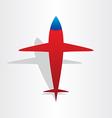 plane airplane flying symbol vector image